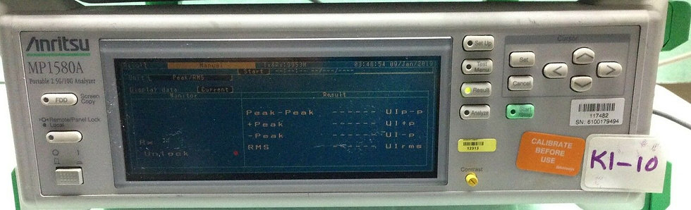 ANRITSU MP1580A 2.5/10G W/MU150018A JITTER UNIT OPT 002