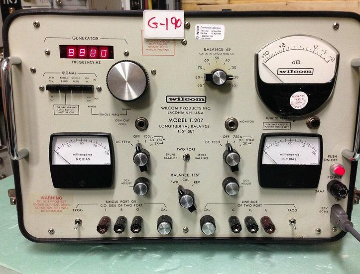 Wilcom-Model-T-207-Longitudinal-Balance-Test-Set