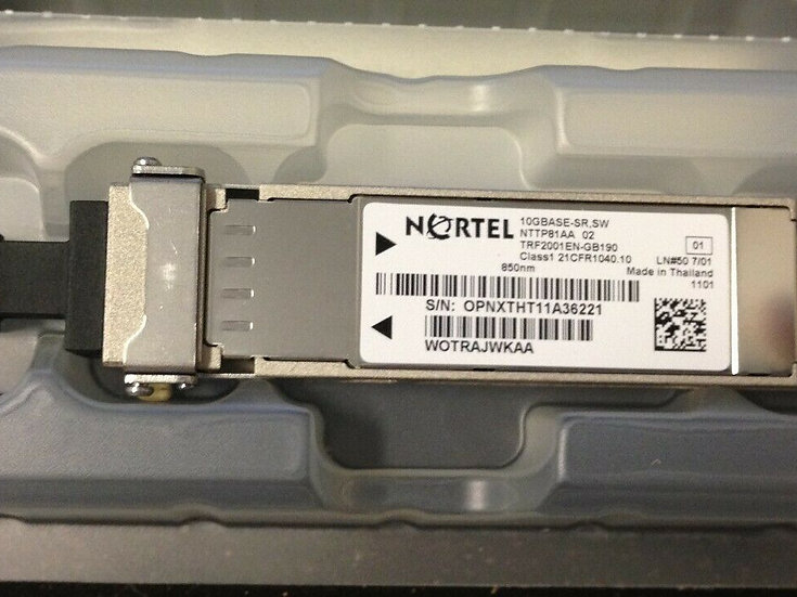Nortel 10GBASE-SR SW / NTTP81AA 850nm CLASS1 21CFR040.01