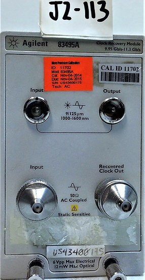 Agilent / HP 83495A  Clock Recovery Module W OPT 100 AND 200
