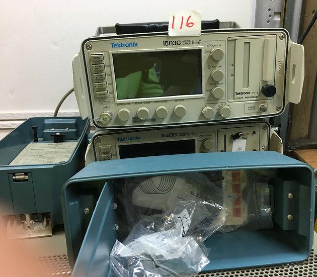 Tektronix 1503C Metallic TDR Cable Tester w Chart Recorder