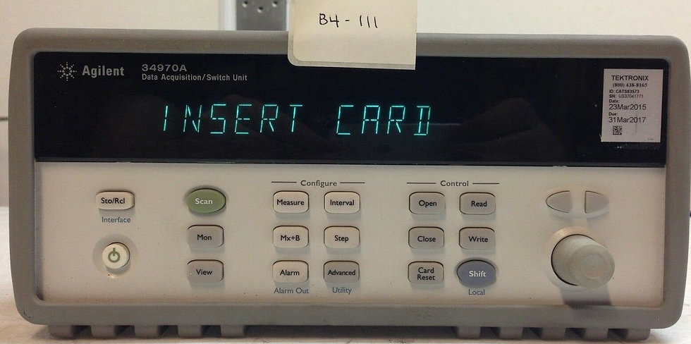 Agilent / HP 34970A Data Acquisition With Option 01