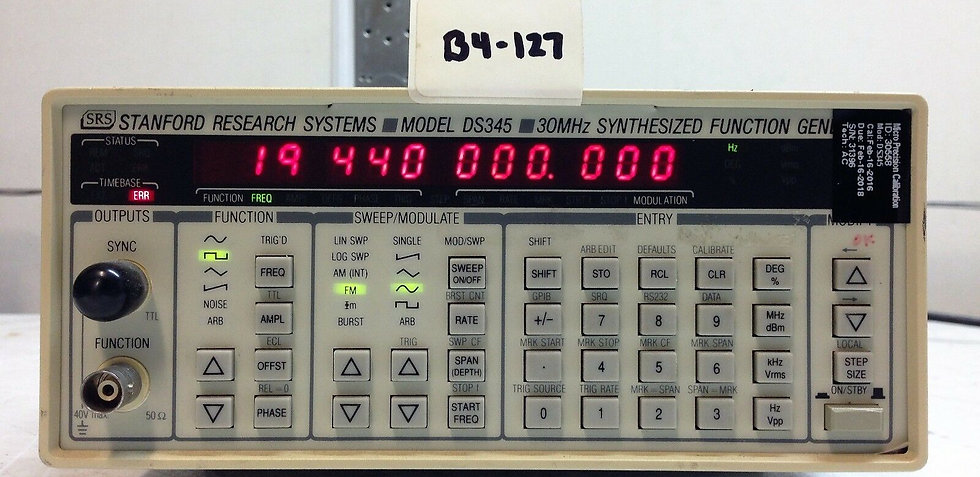 Stanford Research SRS DS345 Synthesized Arbitrary Waveform  w 01 and 02