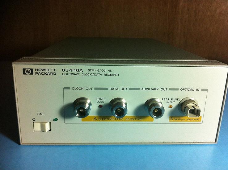 HP 83446A  LIGHT WAVE CLOCK/DATA RECEIVER