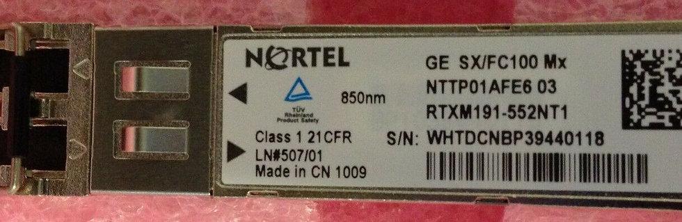 Nortel GE SX/FC100 Mx SFP NTTP01AFE6 03