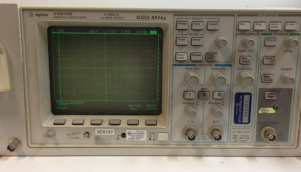 Agilent / HP 54616B  500 MHz 2 GSa/s 2 CH  Digital Oscilloscope