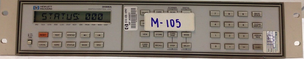 HP-3488A MAIN FRAME WITH [5] 44474A CARDS INCLUDED /  Sold AS IS No Return