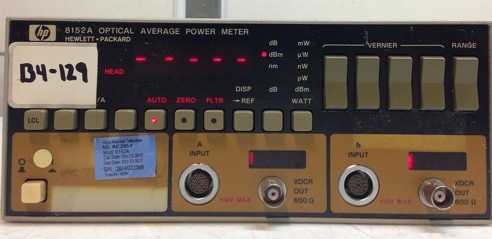 HP 8152A Optical Average Power Meter WITH OPTION 01, 02