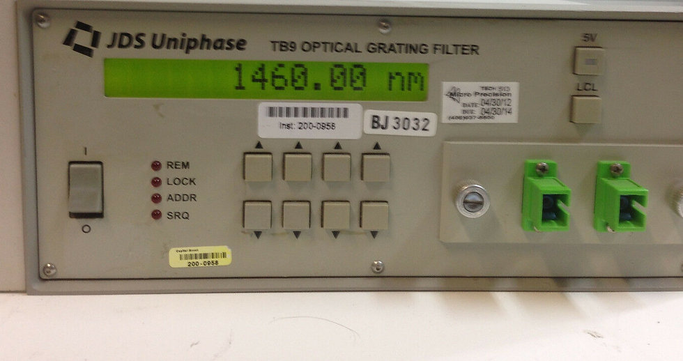 JDS Uniphase TB9  JDSU TB9226+1SU1 Tunable Grating Filter 1460-1575nm