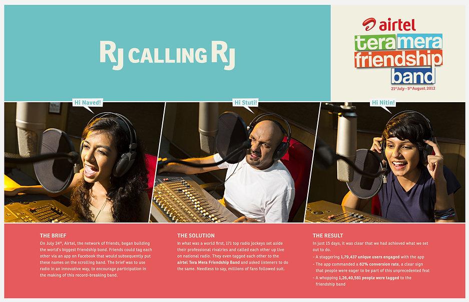 RJ Calling RJ - Radio Activation for Airtel Tera Mera Friendship Band
