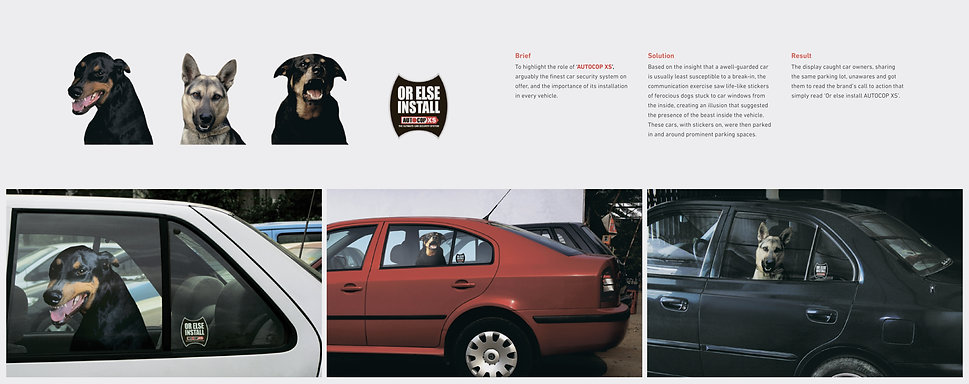 Guerilla/Ambient Marketing for Autocop XS [Car Security System]