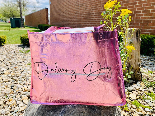 Delivery Day Metallic Tote