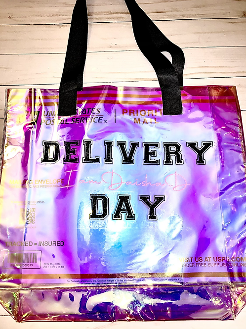 Holographic Glitter Delivery Day Tote