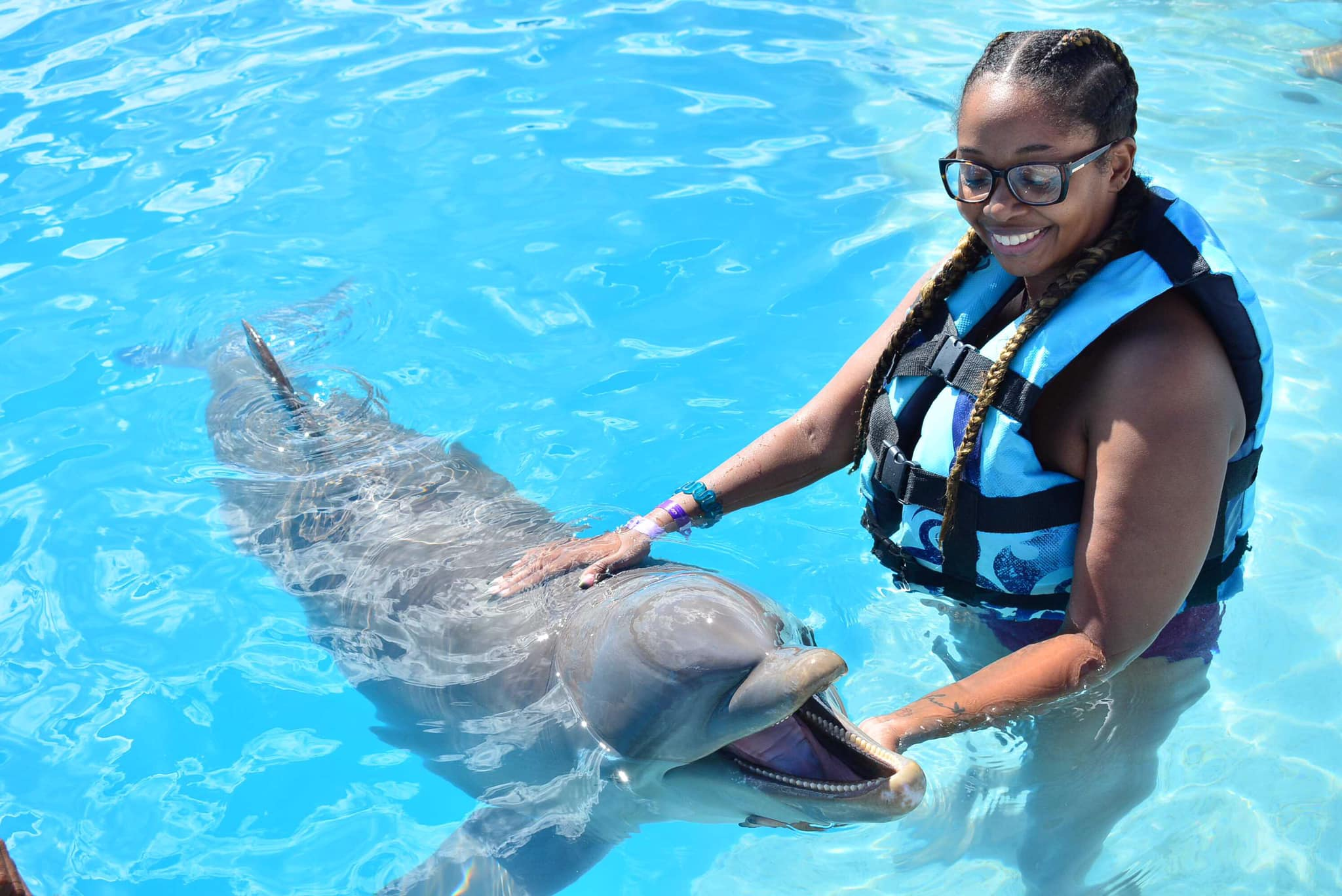 Anna Swimming with the dolphins!