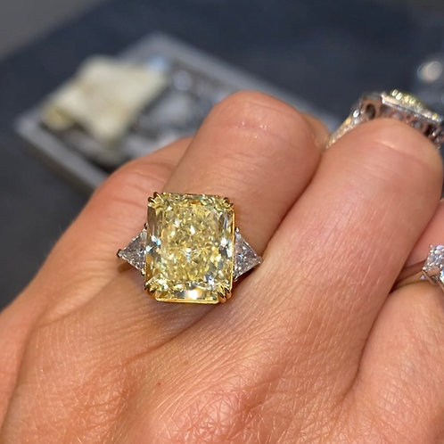 Fancy Light Yellow Ring