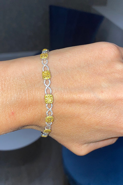 Yellow Diamond Bracelet