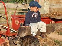 Jacob Annapolen visits the farm