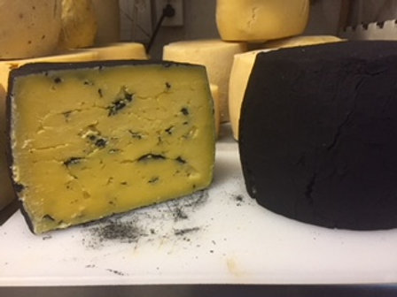 Stinging Nettle Cheddar Cheese without blackened rind