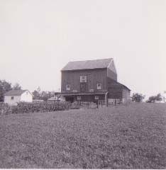 Front Hay field toward main barn