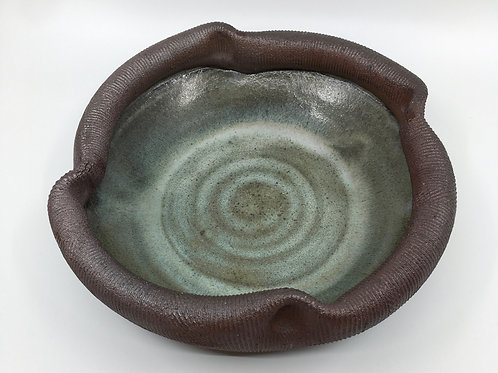 Textured Folded Rim Bowl with Pinched Rim