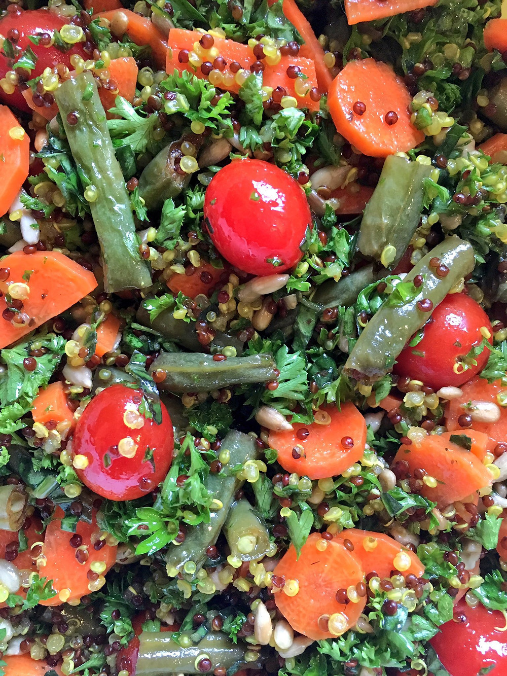 Quinoa Salad with Balsamic Roasted Green Beans