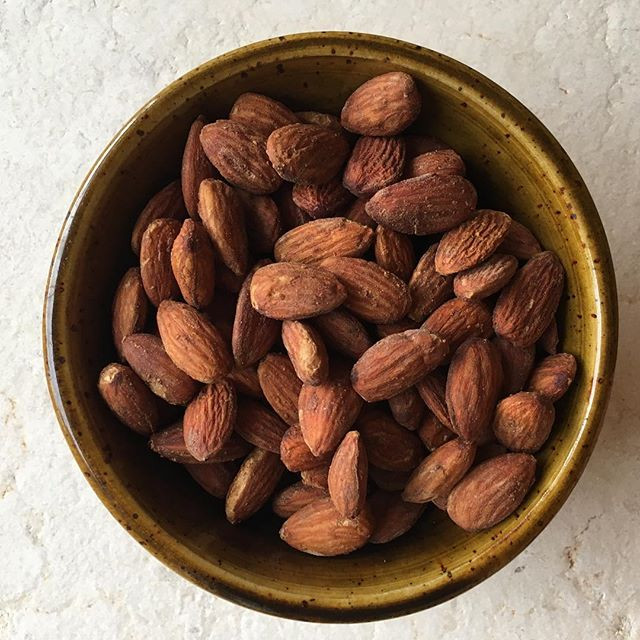 Sesame Garlic Tamari Almonds
