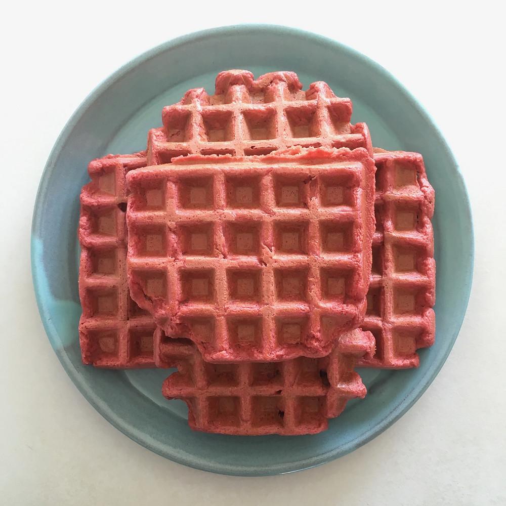pink waffles