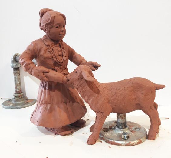 Mary's Little Lamb (precast)
