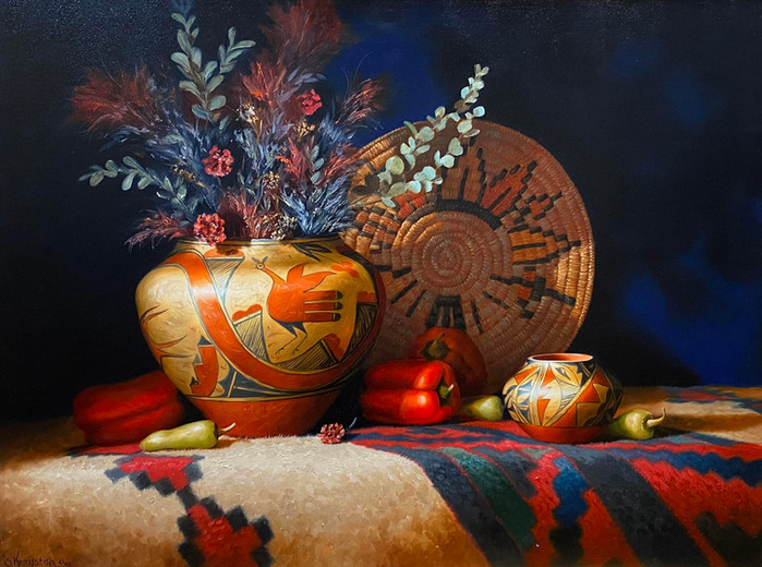 """""""Zia Pot & Peppers"""" by Sue Kryston"""