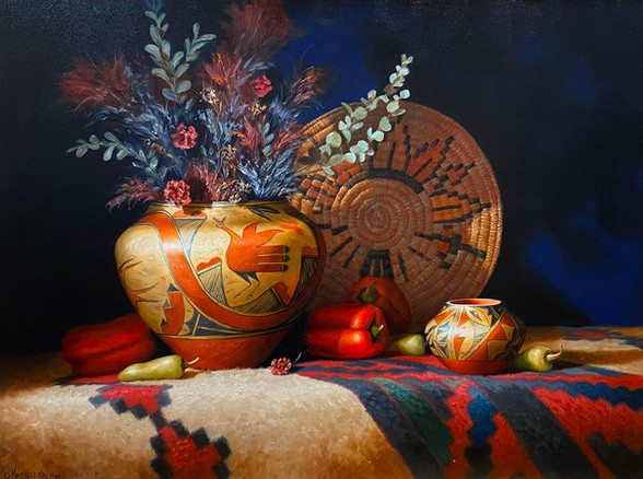 """""""Zia Pot & Peppers"""" by Sue Krzyston"""