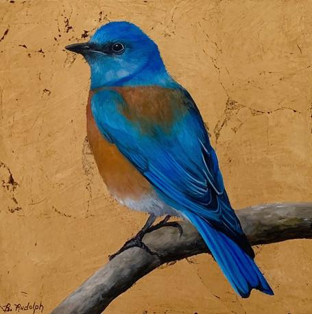 Bluebird on Gold