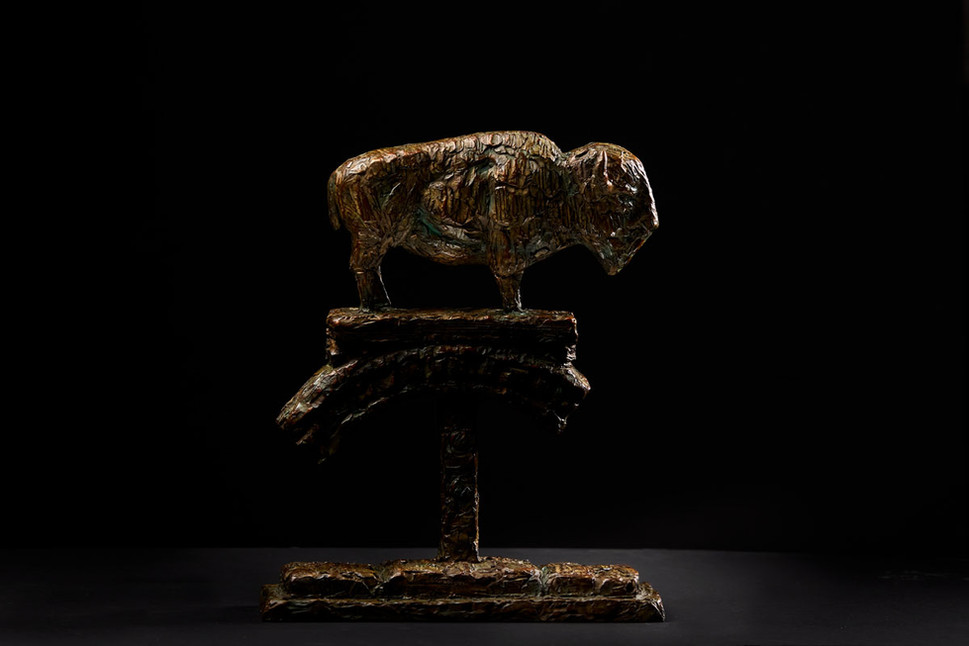 Buffalo on Circle of Life 2 by Mark Edward Adams bronze WEB black.jpg