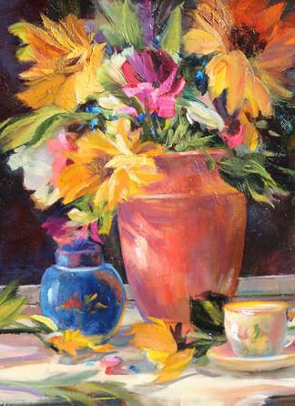 Morning Sunflowers
