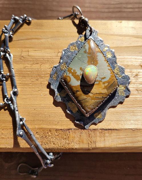 Invitation to Land - Necklace by Susan Adams