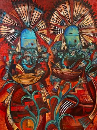 """Corn Pollen Dance"" by Tony Abeyta SOLD!"