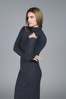 Model in Turtleneck Dress