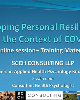 COVERPAGE Online COVID Resilience Traini