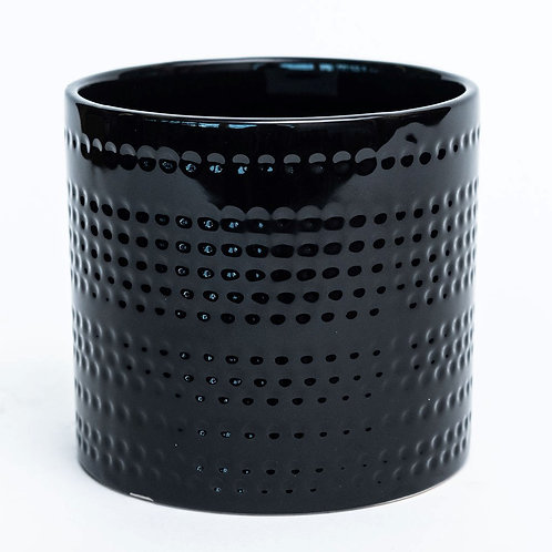 "4.7""DX4.3""H Shiny Black with Dotted Stripes"