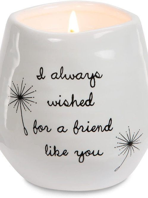 8oz, Soy Wax Candle - I always wished for a friend like you