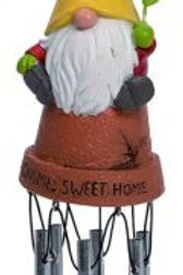 Flower Pot Gnome Wind Chime 2.5 x 2.25 x 13 in.