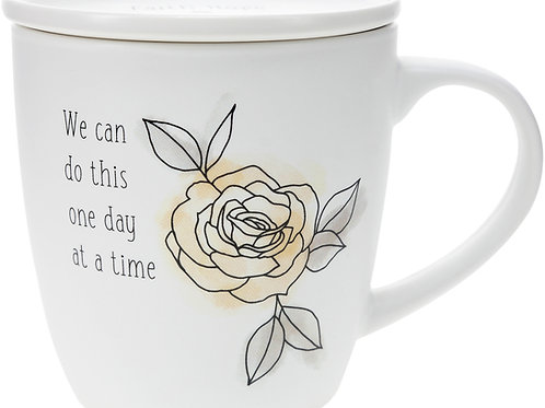 One Day at a Time - 17 oz Cup with Coaster Lid