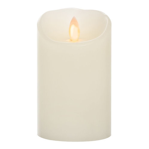 LED Wax Candle Waving Flame (8x15cm)
