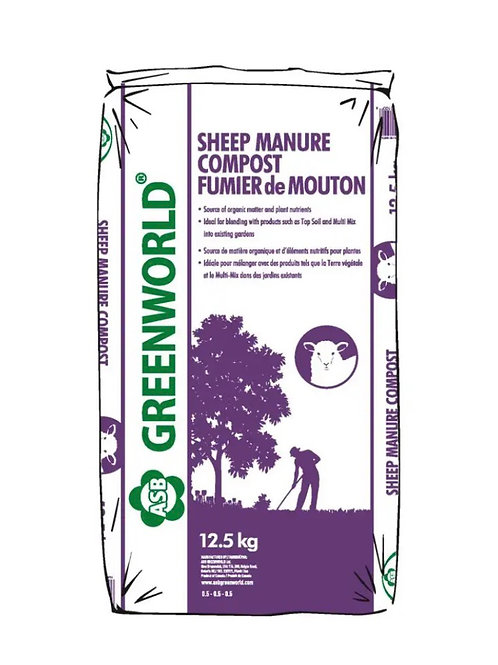 ASB Greenworld Sheep Manure Compost, 12.5 kg/27.5 lbs.