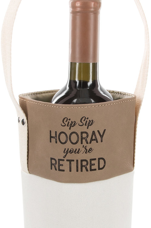 Youre Retired - Canvas Bottle Gift Bag