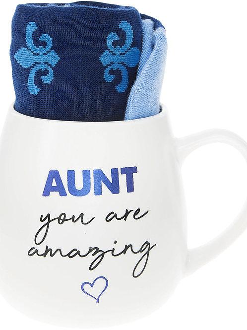 Aunt - 15.5 oz Mug and Sock Set