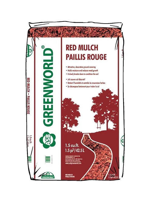 ASB Greenworld Red Mulch, 42.5 L/1.5 cu.ft.