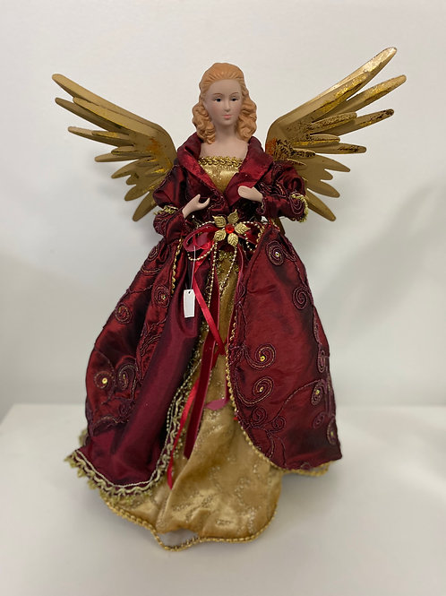 Red Gold Angel Topper