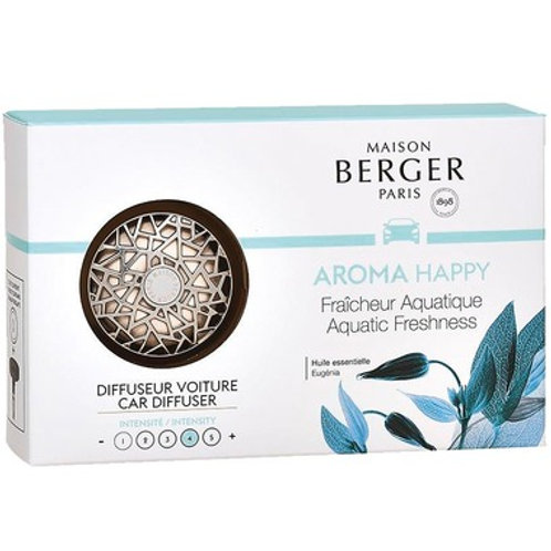 Maison Berger Metallic Car Diffuser Set Happy Aquatic Freshness