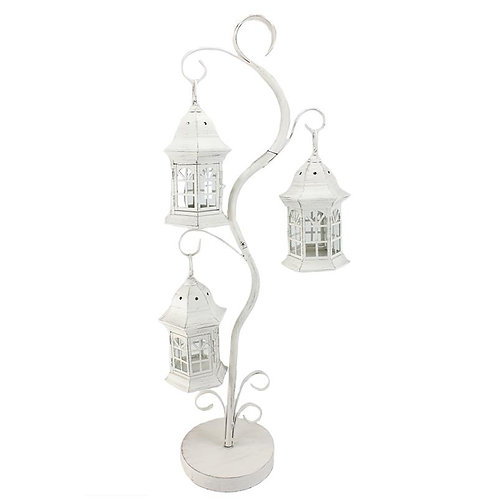 3-Lite Candle Tree Antique White