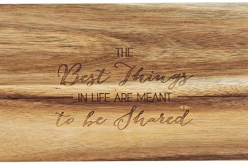 "Best Things - 21"" Acacia Cheese/Bread Board Set"